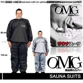 Sepasang Pakaian Pendukung Olahraga Fitness Sauna Suit