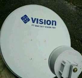 Parabola indovision Mnc Vision Family Pack di jamin hemat makin kuat