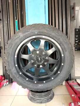 Velg Mobil Ring 20 Buat Fortuner Pajero DLL + Ban Baru 275 55 M/T 01