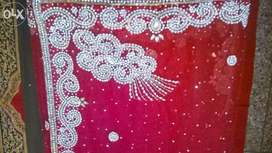 Party wear red color saree!