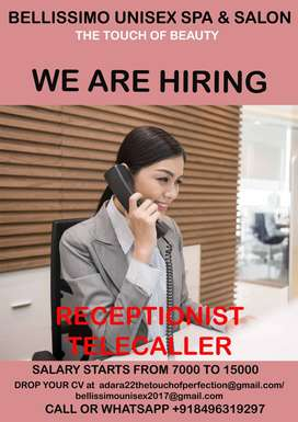 Urgent Requirement for a RECEPTIONIST TELECALLER