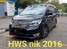 2016 Nissan Serena HWS hitam jarang ada