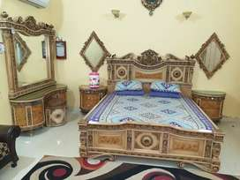 Bed With two Mirrors And Dressing For sale