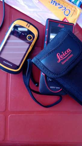 Lica disto D4100 distance measurer and etrex 10 gps