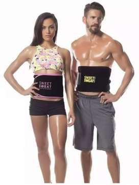 Sweat waist trimmer weight loss fat burner belt.