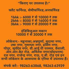 1, 2, 3, 4, BHK FLATS, INDIVIDUAL HOUSE, SHOPS AVAILABLE FOR RENT