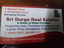 Somajiguda Gated Community prestigious location 2 bhk 1430 sft,  flat.