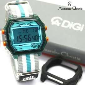 Jam Tangan Pria Unisex Ac 9224 Alexandre Christie hijau Anadigi baru