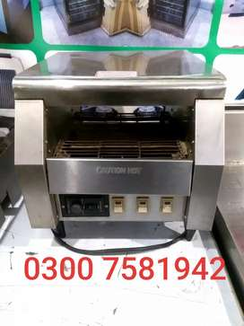 Burger bun toaster imported used we deal pizza oven n fast food setup
