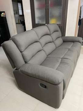 Carsley Fabric 3 Seater Recliner Sofa *2 months old