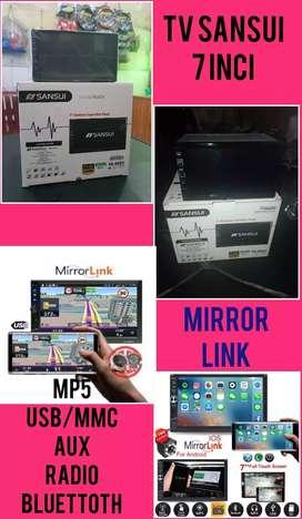 Tv Sansui 7 Inci Mirror Link (Mp4.Usb.Mmc.Aux.Radio.Bluettoth)