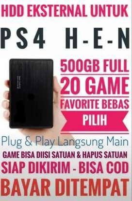 HDD 500GB Mantap Murah Terjangkau FULL 20 Game Terkini PS4 Bebas Pilih