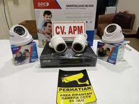 CCTV TERMURAH DAHUA,SPC,AHD,HIKVISION DVR 4 CH,HD 500GB PLUS PASANG