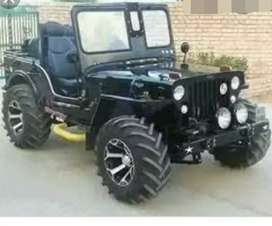 Modified black open willy jeep
