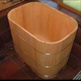 Bathtub Kayu Jati Custome