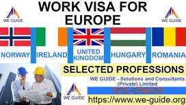 WORK VISA available for Europe - TECHNICAL & SKILLED PEOPLE