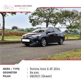 Toyota Vios 1.5 G AT 2014 Hitam Matic