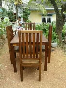 Jual kursi meja makan dri kyu bengkirai