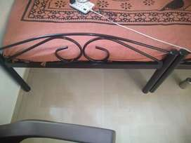 2 iron bed with ply base (6.5mm)