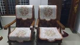 Sofa set plus Glass top teapoy