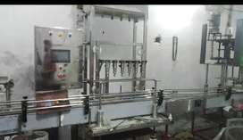 Auto juice and water filling line