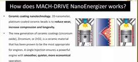 Bike & Car Mach - Drive Nano Energizer Add After engine oil.