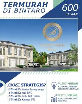 Bintaro, Rumah Termurah Ternyaman Strategis Golden Prime 699 Jutaan