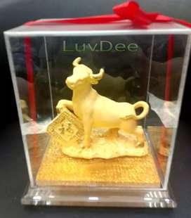 LuvDee Patung Pajangan 24K Shio Kerbau Fu R kado souvenir