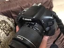 Canon 600 D with Box lences & charger