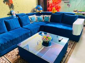 New light sofa set with table for sale