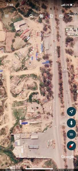3 kanal 10 marla plot available for rent with boundry wall