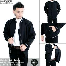 Jaket Bomber casual black