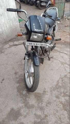 New condition Hero splendor  plus 2013 model single handed motorcycle