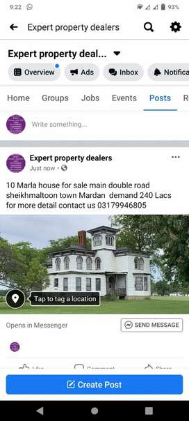 10 Marla house for sale main double road sheikhmaltoon town mardan