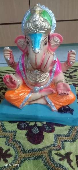 Beautiful decorative ganeshji murti for Ganesh chaturti
