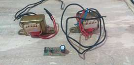 Transformer with bridge rectifier