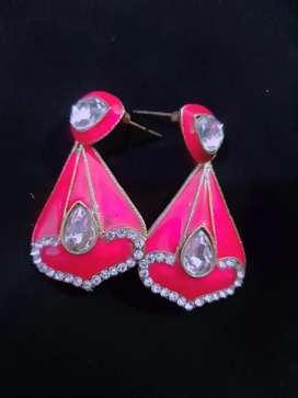 Pink earing