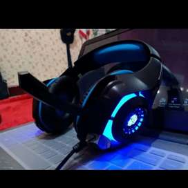 Headset Gaming Rexus Vonix F55 LED Untuk HP Laptop PC Jack 3.5mm