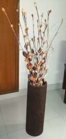 Beautiful Brown velvet vase with flowers strip