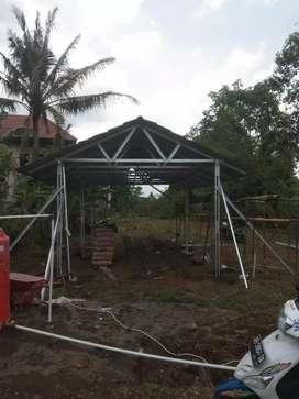 Kontruksi rangka atap baja ringan bahan+pasang