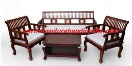 Brand new sheesham solid wooden sofa set