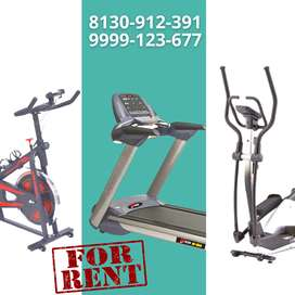 Treadmill, Cross Trainer, and Spinning Bike on Rent in Pitampura