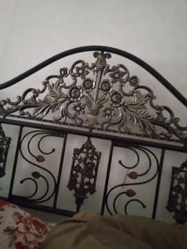 Iron bed with spring mattres