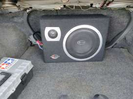 "subwoofer aktif 10"" bluit in amplifier box kotak"
