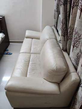 3 seater white sofa