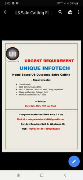 URGENT Requirement  for Outbound calling