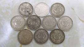 100 Years Old Pure Silver Indian Currency
