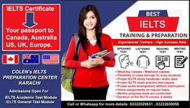8 Bands IELTS Preparatory Classes and TOEFL IBT Classes.