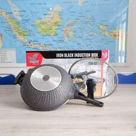 Wok Pan Iron Black Induction 32 Cm Jagoo