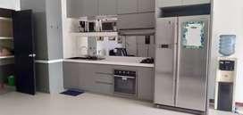 Disewakan apartemen cosmo residences 2 Br dirubah jd1 Br furnish 77 m